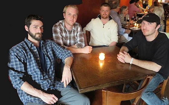From left: members of the Pittsfield-based band B.A. Dario, bassist Jay Cimini, drummer Brad Greene, guitarist Dan Greene and keyboardist Aaron Nackoul. Photo by Jenn Smith/Berkshire Eagle