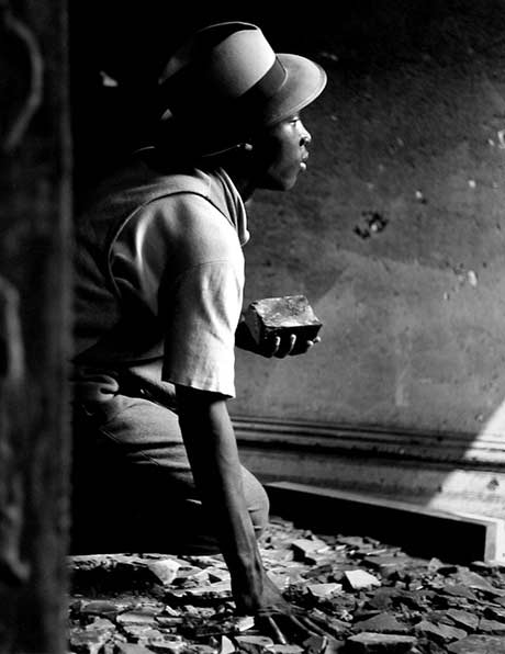 Gordon Parks: Gang Member with Brick, Harlem, New York @ Frances Lehman Loeb Art Center