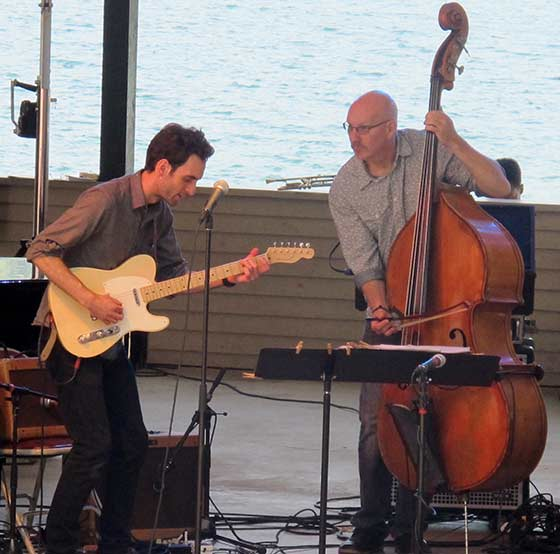 Julian Lage and Scott Colley (photo by Richard Brody)