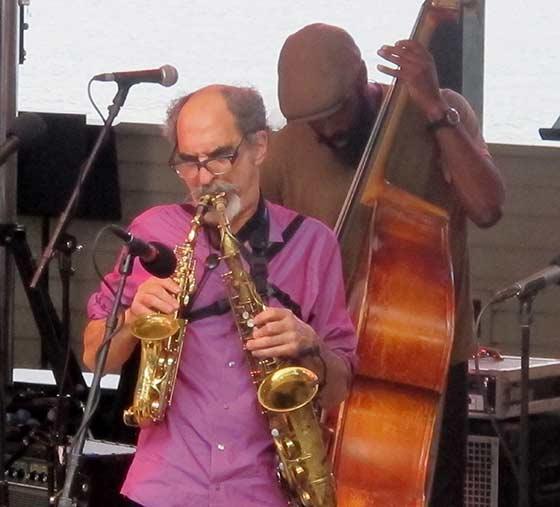 Roy Nathanson and Brad Jones of the Jazz Passengers (photo by Richard Brody)
