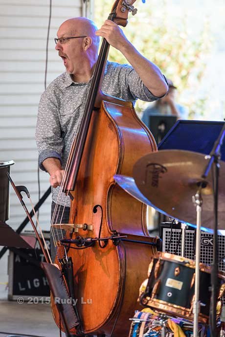 Scott Colley of the Julian Lage Trio