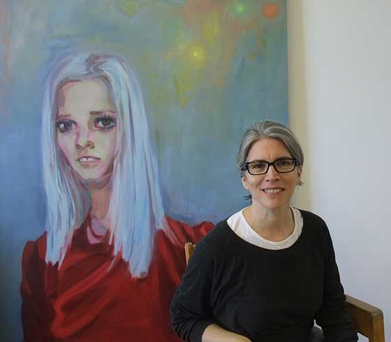 The painter with one of her works. All other images are oil on canvas by Janet Werner.