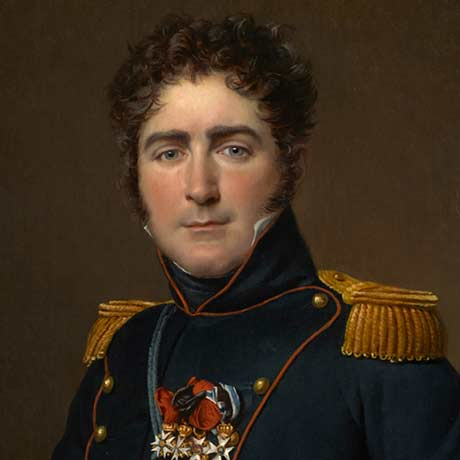 Jacques-Louis David: Comte Henri-Amédée-Mercure de Turenne-d'Aynac @ The Clark