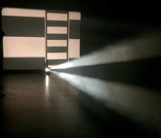 "Lis Rhodes: ""Light Music""  (photo:  Jeff Nania)"