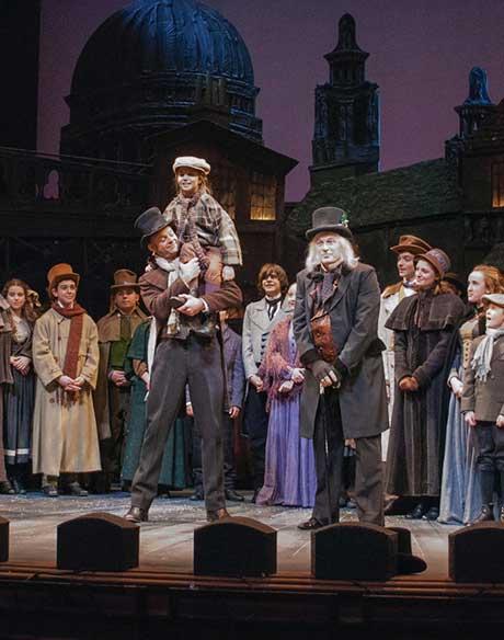 The cast of A Christmas Carol, 2014, photo by Christina Riley.