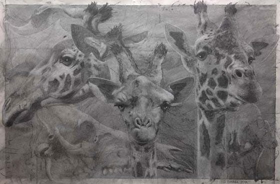 Quentin Garel: Palimpseste X (Girafe) @ Berkshire Museum