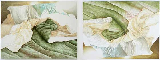 Kate Teale:: (left) Raft 2009; (right) Floating World 2010