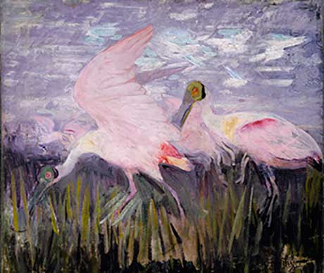 Abbott Handerson Thayer: Roseate Spoonbills @ Williams College Museum of Art