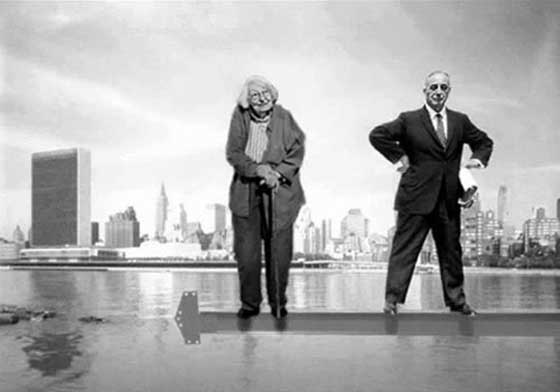 Jane Jacobs (l) and Robert Moses (r). Fascinating subjects for an opera about a man who destroyed as much as he created and the woman who was finally able to stop him.