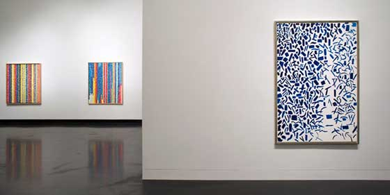 Installation view of Alma Thomas at the Tang Teaching Museum. Photo by Arthur Evans.