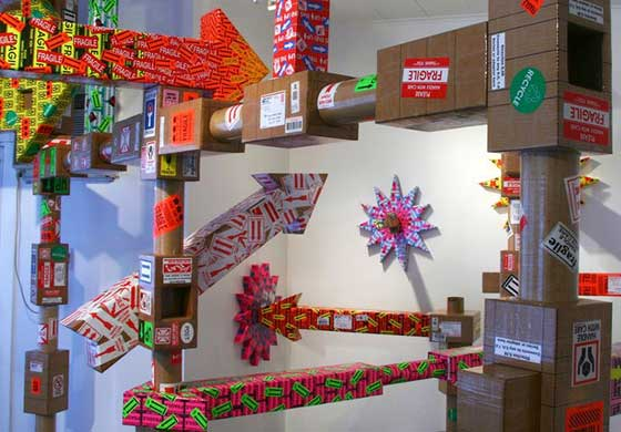 "Abraham Ferraro has redefined ""mail art"" with his sculptural installations"