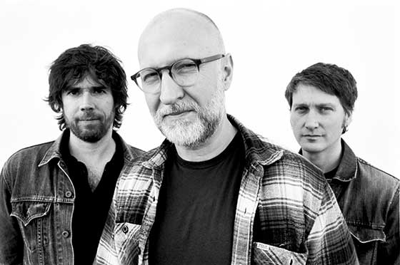 (from left) Jon Wurster, Bob Mould and Jason Narducy
