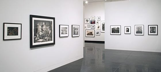 Installation view of Borrowed Light: Selections from the Jack Shear Collection (photo: Arthur Evans)