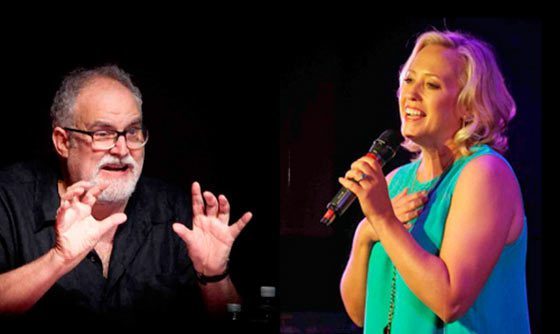 Bill Finn (l) and Sally Wilfert (r) will be on hand to showcase songs by upcoming show tune writers (photo: Stephen Sorokoff)