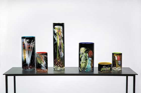 Dale Chihuly: Black Cylinders @ Schantz Galleries