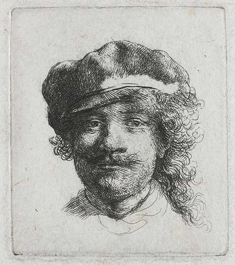 "Rembrandt van Rijn:Self-Portrait Wearing a Soft Cap: ""The Three Moustaches"" @ The Hyde Collection"