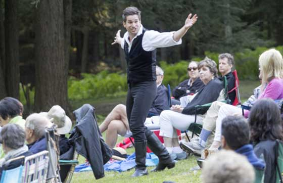 Last year at the Dell at the Mount, Luke Reed gave us a memorable Hamlet (photo: Elizabeth Aspenlieder)
