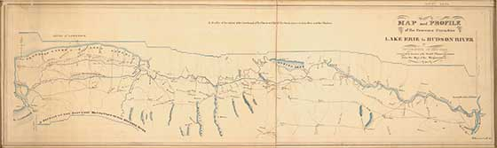 This 1817 map of the proposed Erie Canal is part of Masterworks: Paper