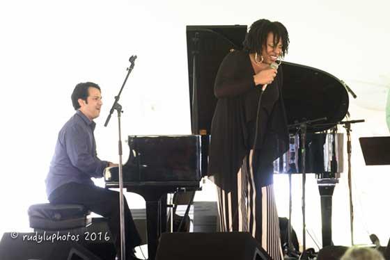Charenée Wade and Oscar Perez