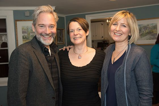 (l to r) David Adkins, Kristen van Ginhoven and Corinna May.