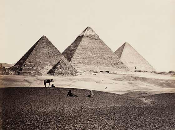 Frances Frith: The Pyramids of El-Geezah @ The Clark
