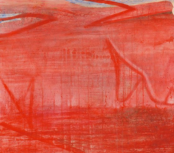 Claude Carone: Untitled (Red) @ John Davis Gallery