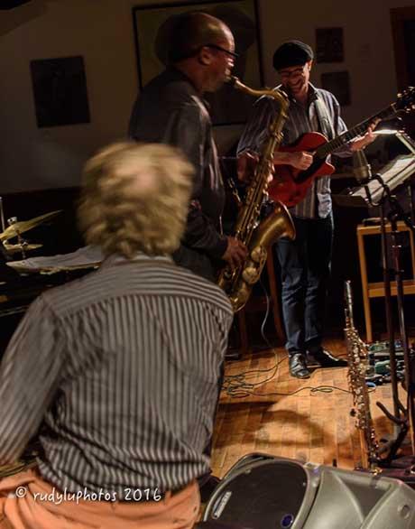 David Kiksoki, Ravi Coltrane and Paul Bollenbeck