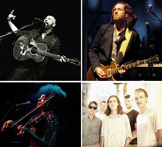 (Clockwise from upper left: Hammell on Trial, Scott Sharrard, The Felice Brothers and Simi Stone)
