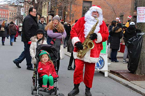 Amy Modesti: Sax-O-Claus and his Mini-Elf @ Eden Advisory Services and Cafe