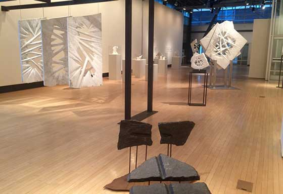 Installation view of Gravity & Light at Sage Colleges' Opalka Gallery (photo provided by Opalka Gallery)