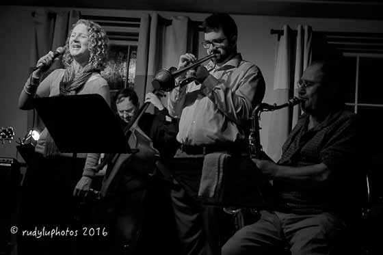 Teresa Broadwell sitting in with Otto Gardner, Dylan Canterbury and Leo Russo