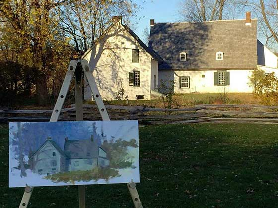 Paintings by Deborah Angilletta @ Mabee Farm Historic Site