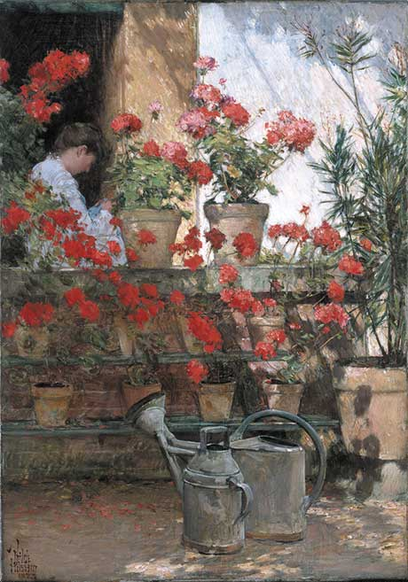 Childe Hassam: Geraniums @ The Hyde Collection