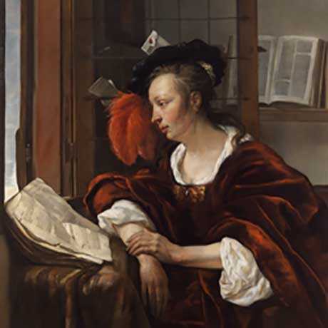 Gabriel Metsu: Woman Reading a Book by a Window @ The Clark Art Institute