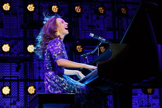Julia Knitel as Carole King (photo: Joan Marcus)