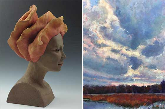 Works by Cheryl Horning and Takeyce Walter @ Saratoga Arts