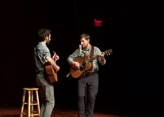 Chris Eldridge and Julian Lage (photo by Glenn Kaplowitz)