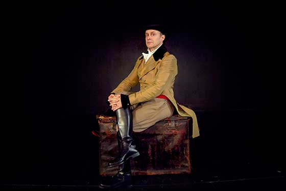 "Oliver Wadsworth as one of the many characters in ""The Tarnation of Russell Colvin."" Photo: Riikka Olson"