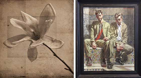 David Seiler: Gray Magnolia and Mark Bear: Two Men on Painted Tile @ Carrie Haddad Gallery
