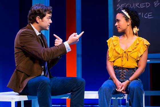 "Joshua Jackson and Lauren Ridloff in ""Children of a Lesser God"" (photo: Matthew Murphy)"