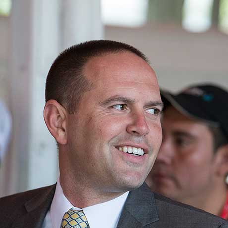 Trainer Chad Brown, 7/26/2017
