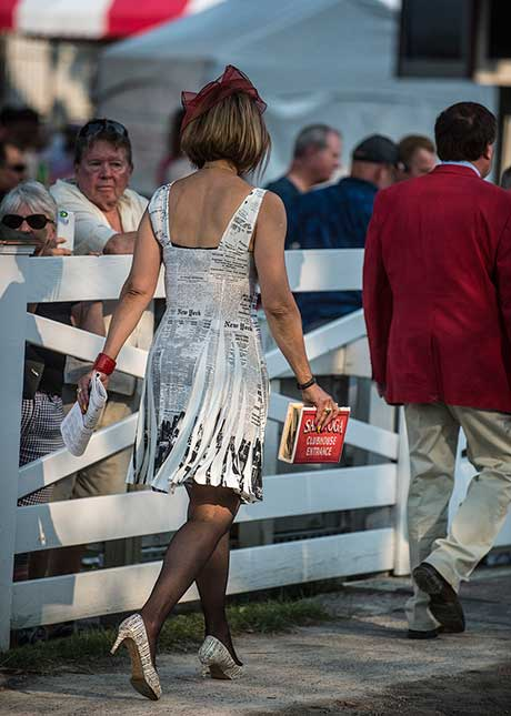 New York Times dress walking from the paddock to the clubhouse, 7/26/2017