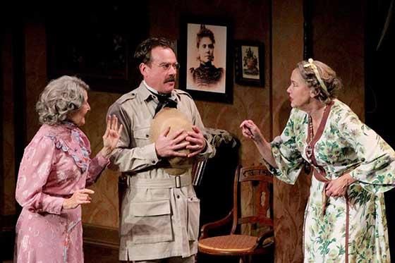 Mia Dillon, Timothy Gulan and Harriet Harris. Photo: Michael Sullivan