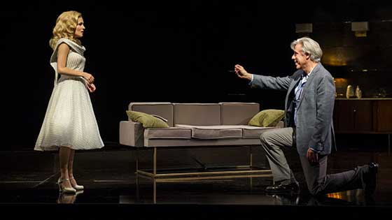 Lora Lee Gayer (Billie Hathaway) and Jeff McCarthy (Joseph Lindy) Photo: Daniel Rader.