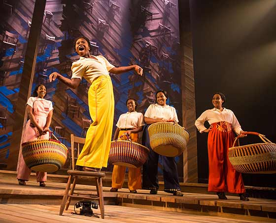 Cynthia Erivo and the cast of The Color Purple on Broadway