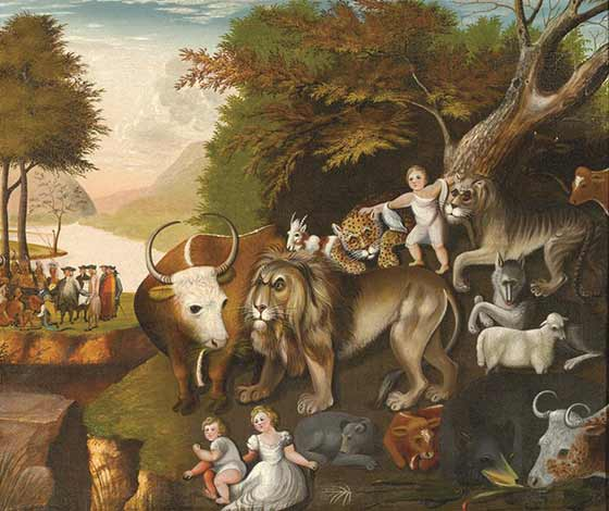 Edward Hicks (Atributed): The Peaceable Kingdom with the Leopard of Serenity @ The Hyde Collection