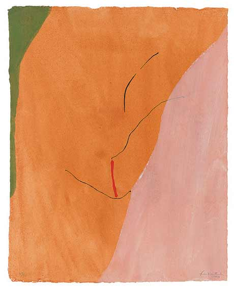 Fluid Expressions: The Prints of Helen Frankenthaler @ Frances Lehman Loeb Art Center