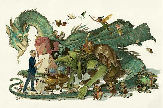 Works by Tony DiTerlizzi @ Norman Rockwell Museum
