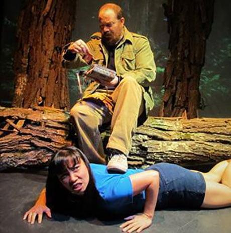 "Hulie Pham and Joseph Tisa in Lanford Wilson's ""Redwood Curtain"" (photo: John Sowle)"