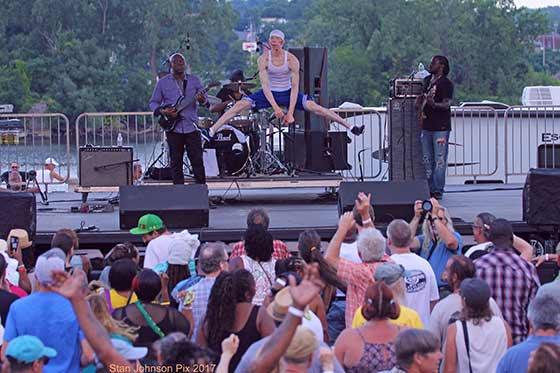 King Yellowman and the Sagittarius Band at Alive at 5, 8/3/17